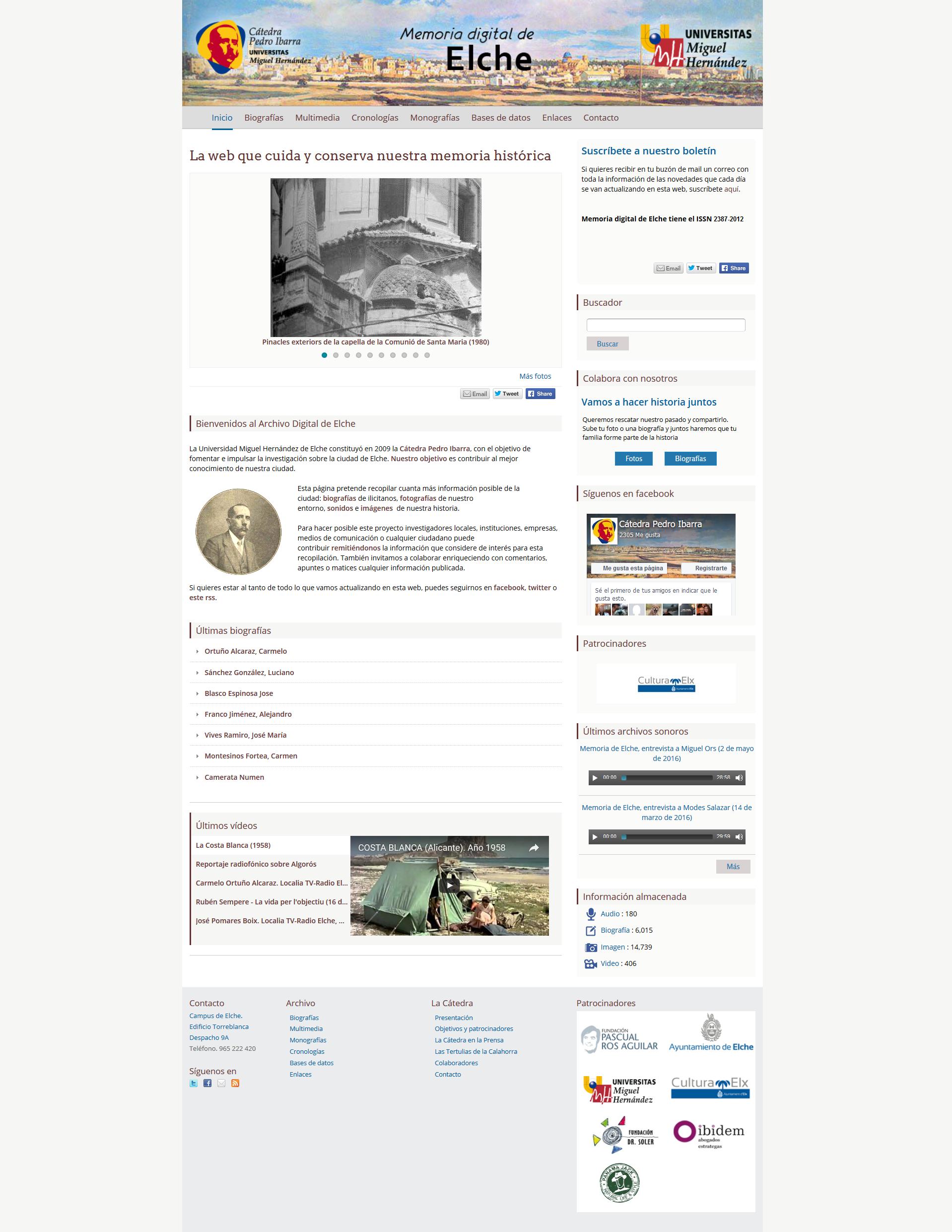 Modificaciones diseño web drupal elche.me