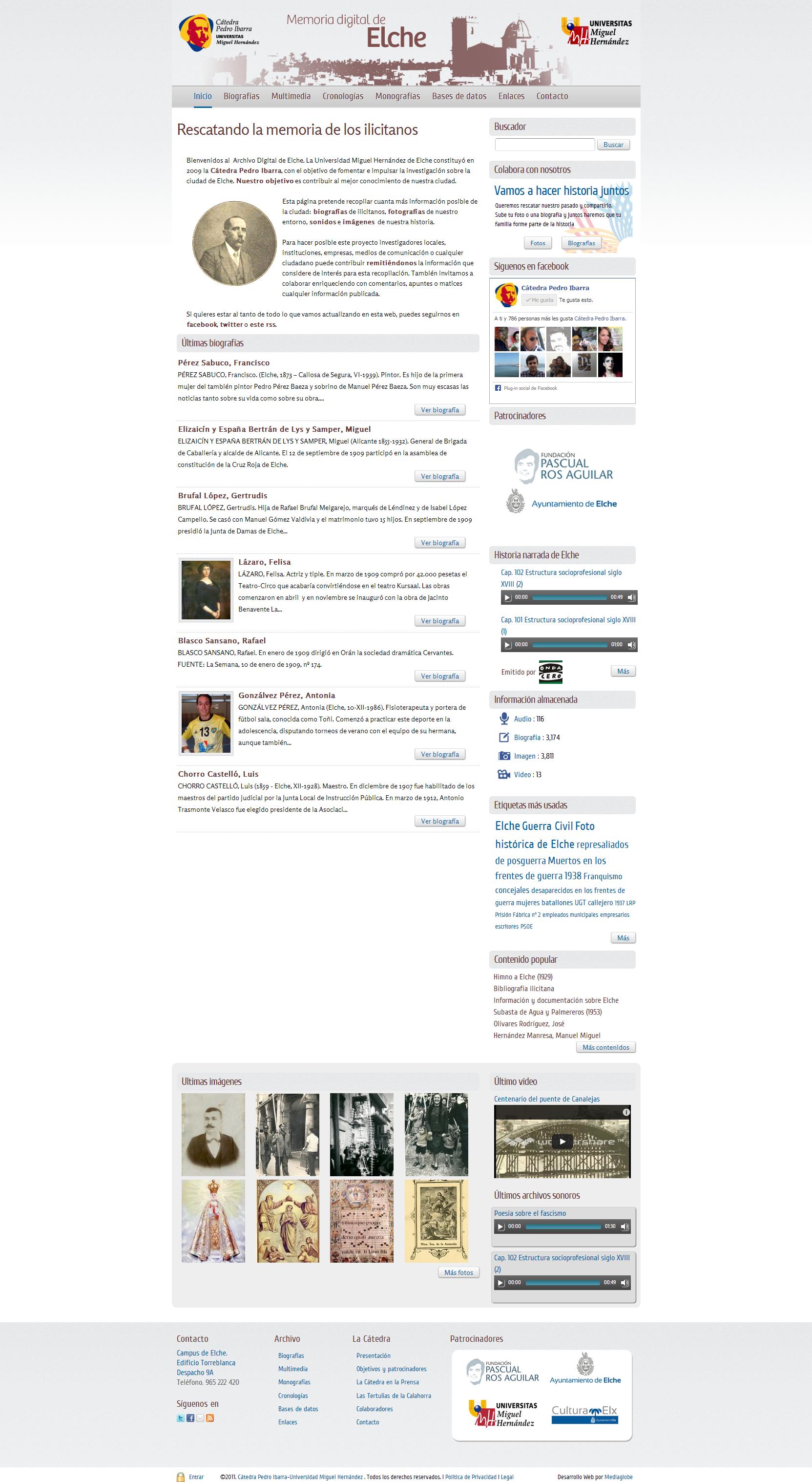 Diseño inicial de web drupal elche.me