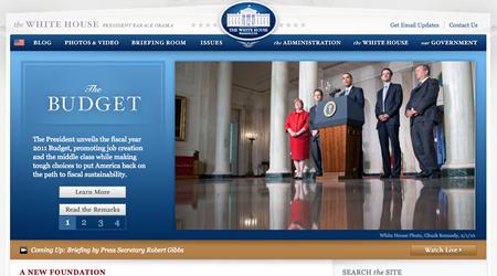 sitio web casa blanca The White House